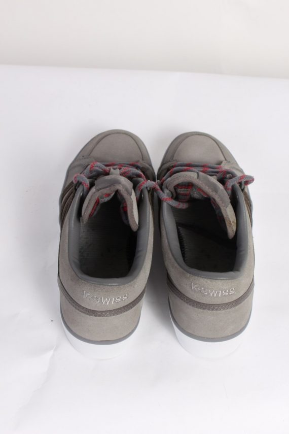 Vintage K-Swiss California Tennis Shoes UK 7.5 Grey S463-86322