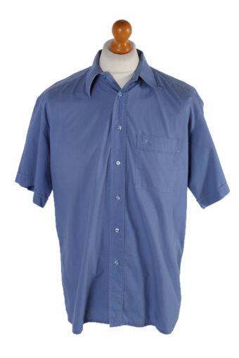 Pierre Cardin Short Sleeve Shirt Blue XXL
