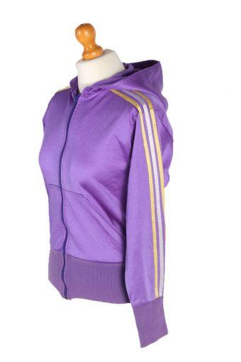 Vintage Unbranded 3 Stripe Tracsuit Top L Purple -SW1923-92701