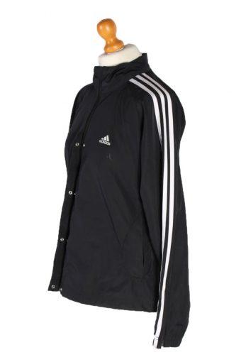Vintage Adidas 3 Stripe Tracsuit Top L Black -SW1921-92693