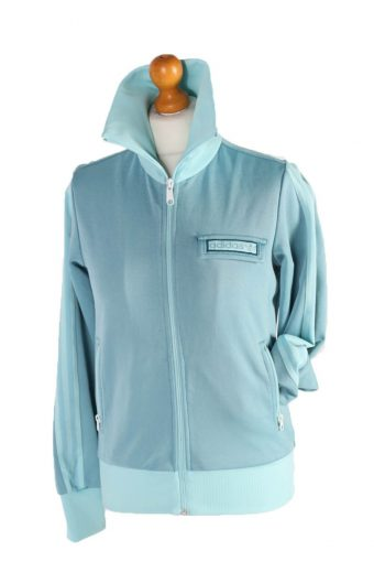 Adidas Stripe Track Top Turquoise Green L