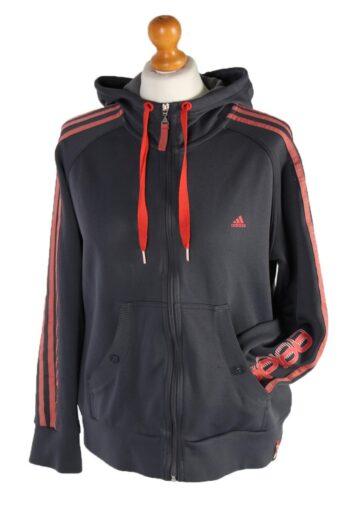 Adidas Stripe Track Top Dark Grey L