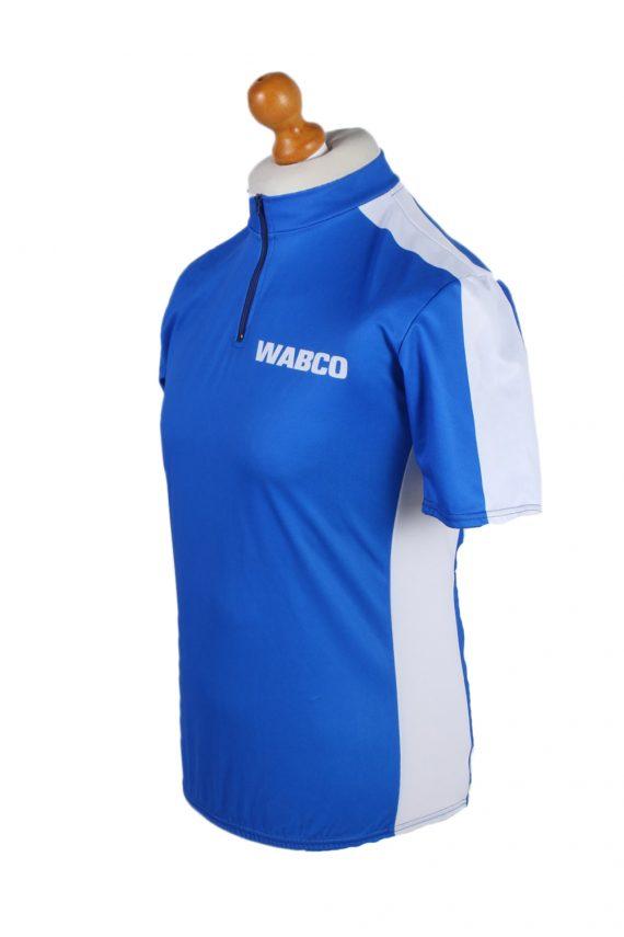 Vintage Wabco World of Textile Short Sleeve L Blue CW0600-88483