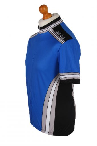 Vintage Bike O'bello Cycling Short Sleeve Bicycle Jersey Racing L Blue CW0637-91346