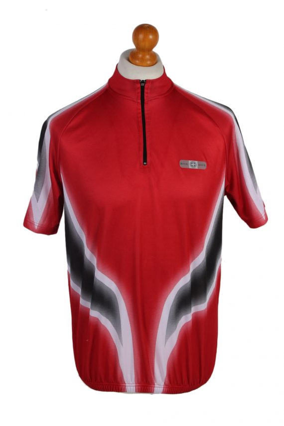Vintage Crane Sports Cycling Short Sleeve Bicycle Jersey Racing S Red CW0648-0