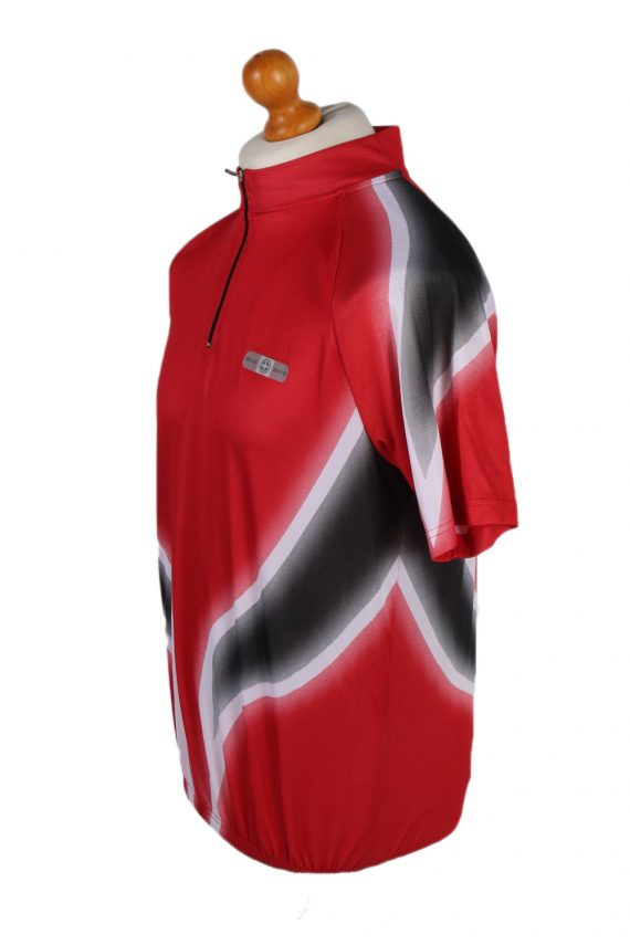 Vintage Crane Sports Cycling Short Sleeve Bicycle Jersey Racing S Red CW0648-91390