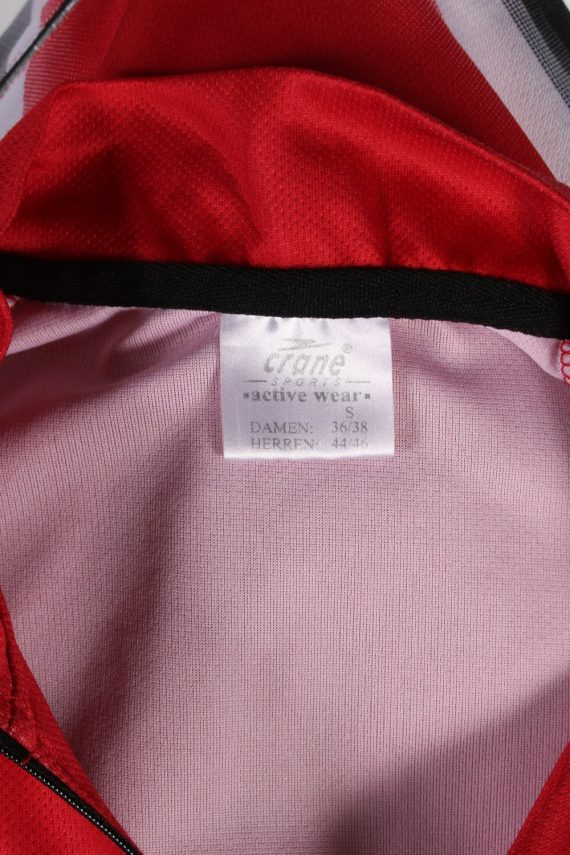 Vintage Crane Sports Cycling Short Sleeve Bicycle Jersey Racing S Red CW0648-91392