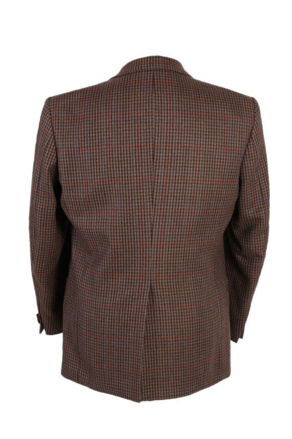Vintage Harris Tweed Kohler Window Pane Houndstooth Blazer Jacket Chest 43 Brown HT2320-87228