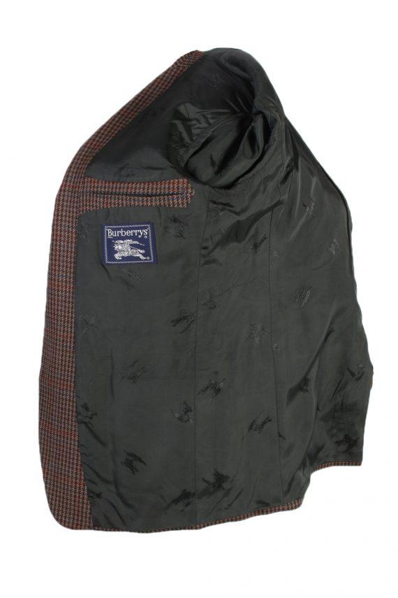 Vintage Harris Tweed Kohler Window Pane Houndstooth Blazer Jacket Chest 43 Brown HT2320-87229