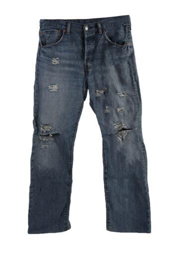 Levi's 501 Ripped Denim Jeans Mens W33 L30