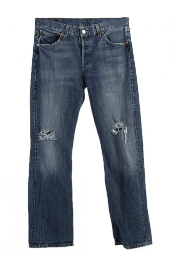 Levi's 501 Lable Ripped Faded Unisex Jeans W34 L32