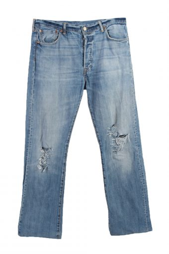 Levi's 501 Lable Ripped Faded Unisex Jeans W36 L34