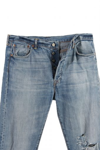 Vintage Levi's 501 Red Lable Ripped Faded Unisex Jeans W36 L34 Blue J3389-87524