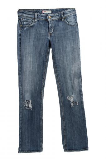 Levi's 470 Ripped Faded Women Jeans Classic Style W31 L32