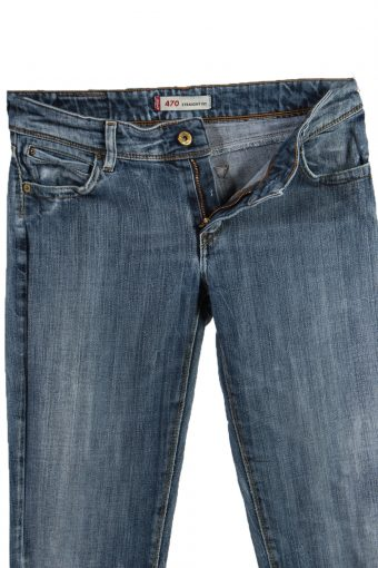 Vintage Levi's 470 Ripped Faded Women Jeans W31 L32 Blue J3401-87560