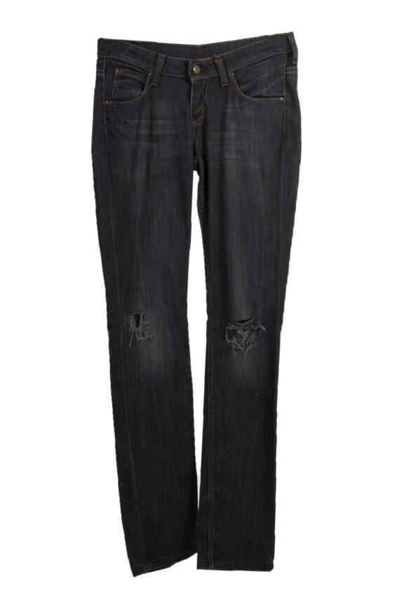 Vintage Lee Ripped Faded Women Jeans W27 33 Bluack J3402-0