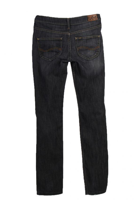 Vintage Lee Ripped Faded Women Jeans W27 33 Bluack J3402-87564