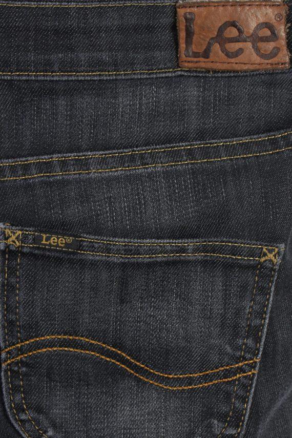 Vintage Lee Ripped Faded Women Jeans W27 33 Bluack J3402-87565