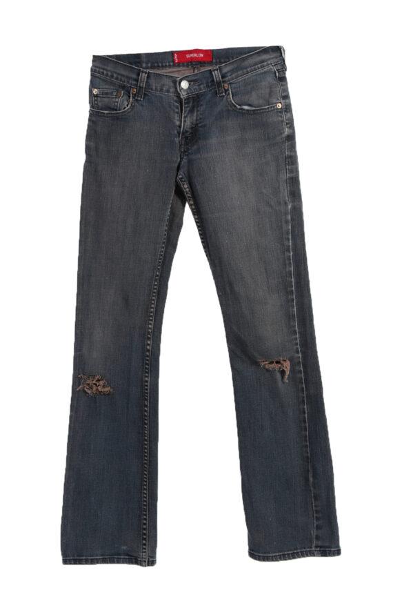 Vintage Levi's 514 SUPER LOW Ripped Faded Women Jeans W30 L32 Gray J3405-0