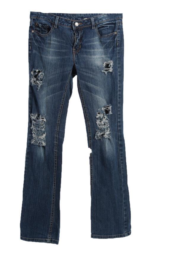 Vintage Levi's 515 Ripped Faded Women Jeans W31 L31 Blue J3409-0