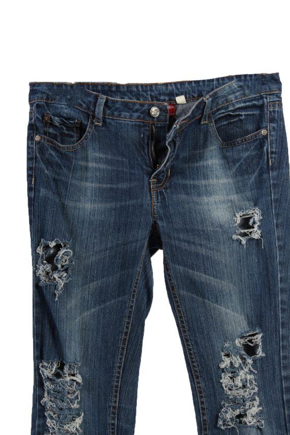 Vintage Levi's 515 Ripped Faded Women Jeans W31 L31 Blue J3409-87584