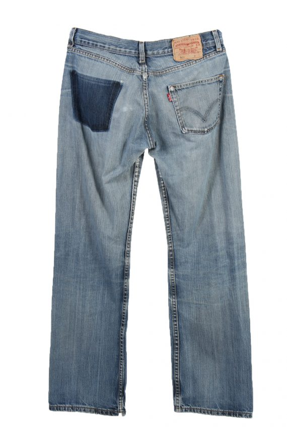 Vintage Levi's 501 Red Lable Ripped Faded Unisex Jeans W30 L32 Blue J3441-87489