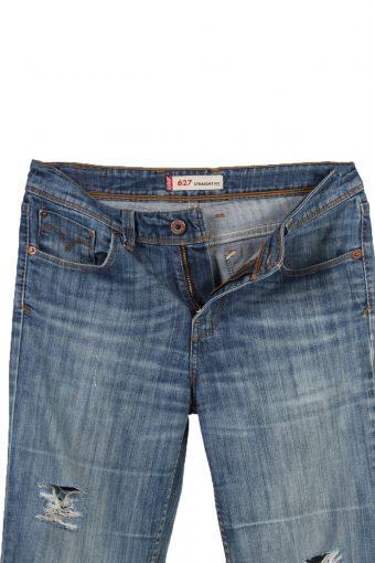 Vintage Levi's 467 Ripped Faded Women Jeans W28 L32 Blue J3442-87491