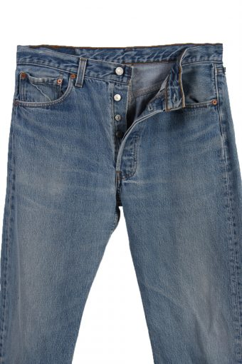 Vintage Levi's 501xx Red Lable Ripped Faded Unisex Jeans W33 L28.5 Blue J3482-87283
