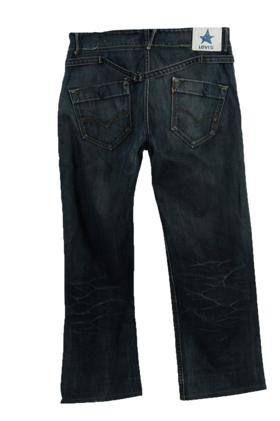 Vintage Levi's Ripped Faded Unisex Jeans W36 L34 Navy J3486-87296