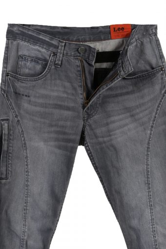 Vintage Lee Ripped Faded Unisex Jeans W32 L28 Gray J3512-87927