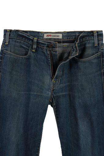 Vintage Levi's 509 Comfort Ripped Faded Unisex Jeans W34 L29 Blue J3525-87979