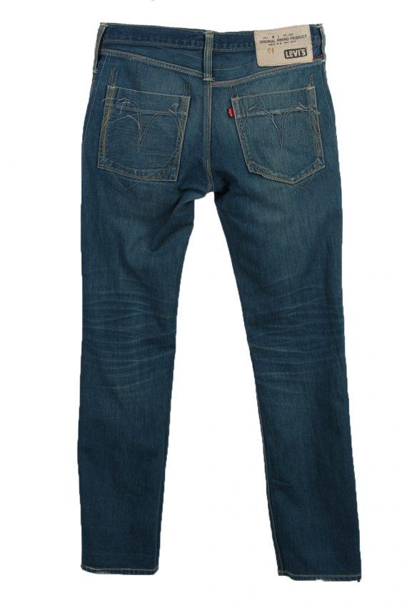 Vintage Levi's 01 Ripped Faded Unisex Jeans W33 L34 Blue J3527-87988