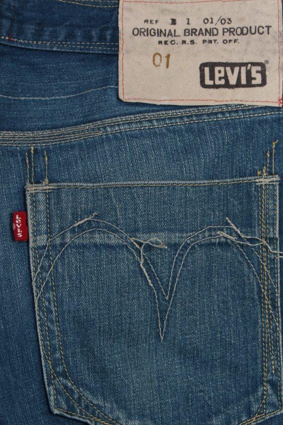 Vintage Levi's 01 Ripped Faded Unisex Jeans W33 L34 Blue J3527-87989