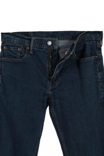 Vintage Levi's 513 Skinny Leg Ripped Faded Unisex Jeans W30 L34 Navy J3532-88007