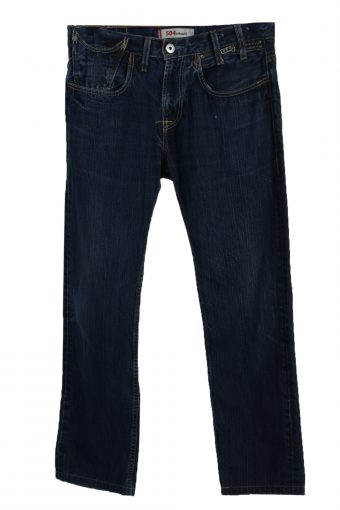 Levi's 504 Straight Ripped Faded Unisex Jeans 90's W32 L30