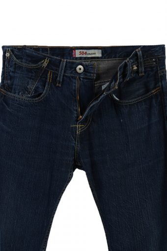 Vintage Levi's 504 Straight Ripped Faded Unisex Jeans W32 L30 Navy J3538-88031