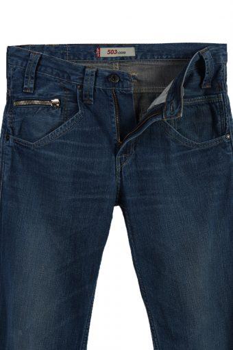 Vintage Levi's 503 Loose Ripped Faded Unisex Jeans W31 L34 Blue J3540-88039