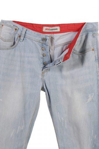 Vintage Levi's 506 Standard Ripped Faded Unisex Jeans W36 L34 Blue J3561-88435
