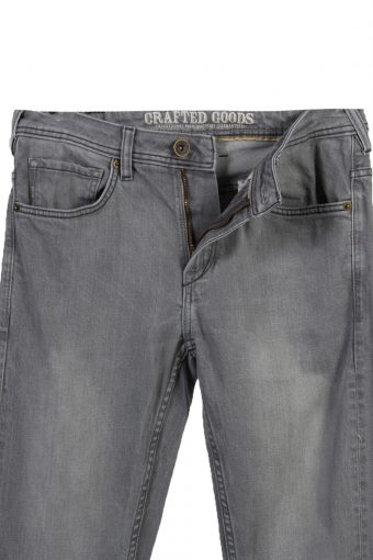 Vintage Crafted Gooids Faded Unisex Jeans W32 L34 Gray J3567-88459