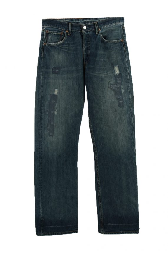 Vintage Levi's Ripped Faded Unisex Jeans W32 L35 Blue J3572-0