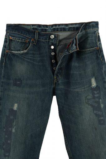 Vintage Levi's Ripped Faded Unisex Jeans W32 L35 Blue J3572-88625