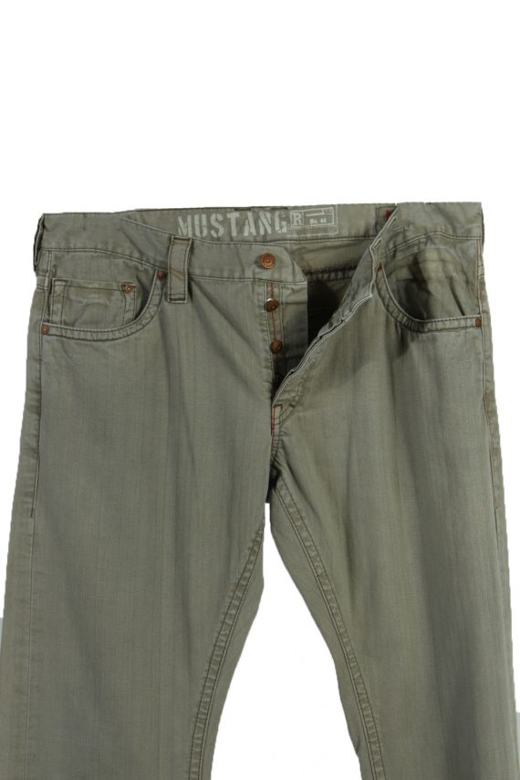 Vintage Mustang Ripped Faded Unisex Jeans W36 L33 Brown J3580-88657