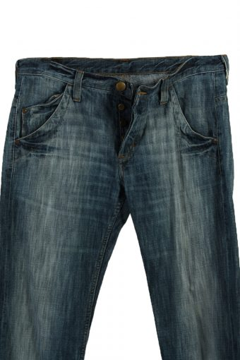 Vintage Lee Ripped Faded Unisex Jeans W33 L36 Blue J3588-88689