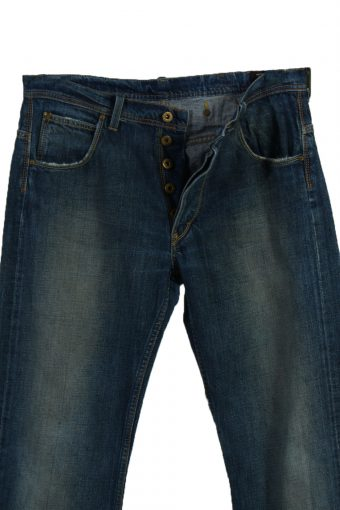 Vintage Lee Ripped Faded Unisex Jeans W32 L34 Blue J3590-88697