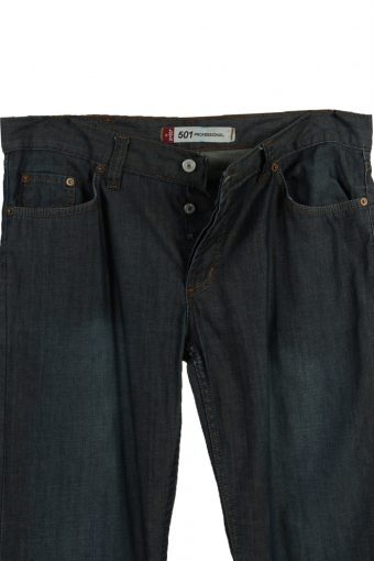 Vintage Levi's 501 Professional Ripped Faded Unisex Jeans W36 L34 Navy J3593-88709