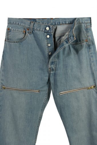 Vintage Levi's 501 Red Lable Ripped Faded Unisex Jeans W34 L34 Blue J3602-88745
