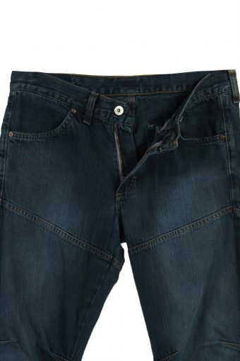 Vintage Mustang Faded Unisex Jeans W30 L32 Navy J3619-88933