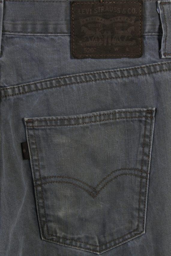 Vintage Levi's 520 Slim Fit Faded Women Jeans W29 L39 Blue J3703-89713
