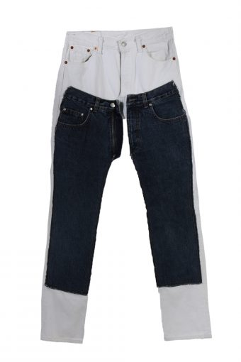 Levi's 501 Designer Remake Women Jeans Classic 90's W30 L34 Multi