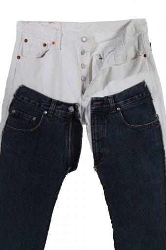 Vintage Levi's 501 Designer Remake Women Jeans W30 L34 Multi J3713-91184